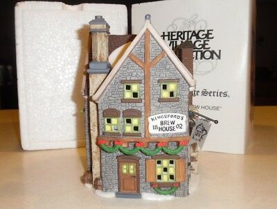 Dept. 56 Heritage Village Dickens Kingsford's Brew House in Box