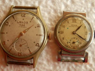 swiss made vintage watches oversize 35mm lanco doxa art deco for repair parts