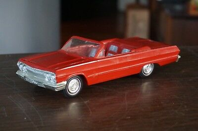 Old 1963 Chevrolet Impala Convertible Promo In Red