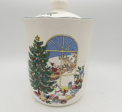 Nikko Happy Holidays Coffee Canister with Lid Cookies Christmas