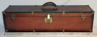 "Rare Antique ""The Wizard Chest"" Carpenter's Wooden 32"" Tool Box Toolbox 1900s?"