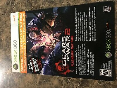 Gears Of War Flashback Map Pack + 48 Hr Xbox Live - Xbox 360 - Dlc Add On