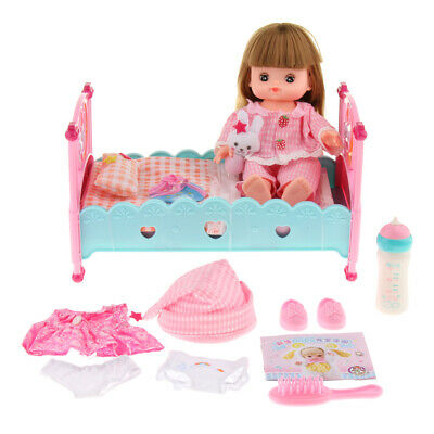 Funny Mummy Role Play Baby Girl Bed Crib Cot Make Up Set Kids Toy B-day Gift