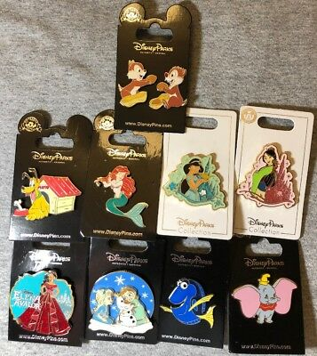 Disney Authentic 10 Pin Trading/collector Pin Set (  C - 36 )