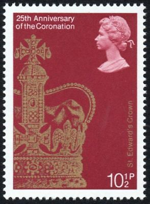 GB 1978 10 1/2p Stamp, 25th Anniversary of the Coronation, Crown - Unmounted