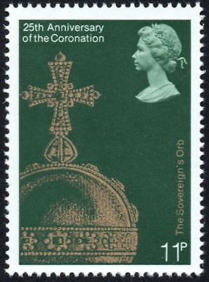 GB 1978 11p Stamp, 25th Anniversary of the Coronation, Sovereign Orb - Unmounted