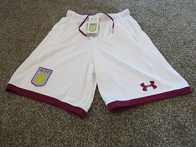 Under Armour Aston Villa 2017/18 Mens Home Shorts Small BNWT