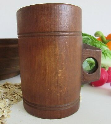 Oak Half Pint Grain Measure with Victorian Assay Marks, Decorator's Piece, £25