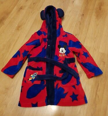 cute baby boys 12-18 months dressing gown mickey mouse matalan