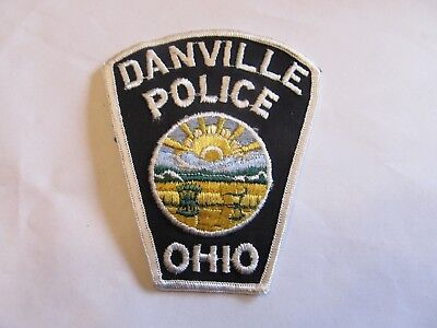 Ohio Danville Police Patch Obsolete Cheese Cloth
