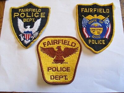 Ohio Fairfield Police Patch Set Top 2 Cheese Cloth