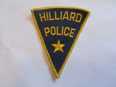 Ohio Hilliard Police Patch Old Cheese Cloth