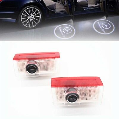 2x LED Laser Projector Mercedes Logo Ghost Shadow Light Benz W205 S205 C205 A205