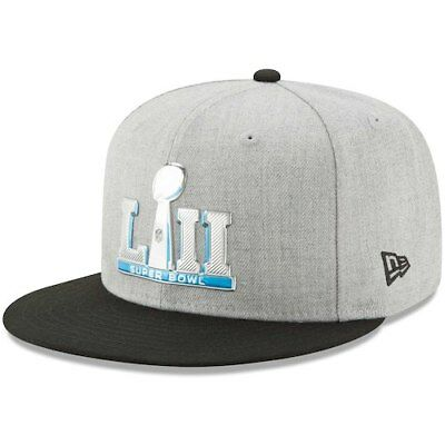 a8a352f90 NFl New Era Super Bowl LII Chrome 59FIFTY Fitted Hat - Heathered Gray Black