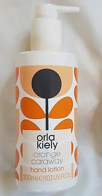 Orla Kiely Orange & Caraway Hand Lotion NEW 300ml pump bottle