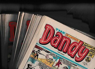 23 x THE DANDY COMICS 1981 ALL LISTED AND IN GOOD CONDITION