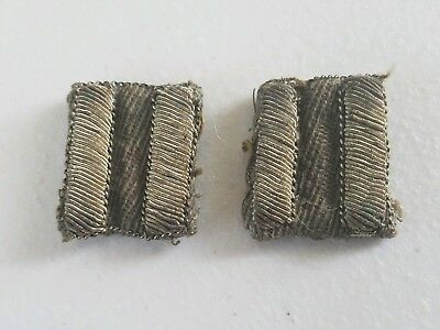 Authentic Ww1 Us Military 2 Bars/strips - All Original Condition!