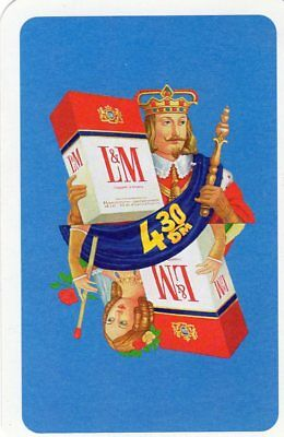 "RARE MINT ""L & M (King Wearing a Crown) Cigarettes"" SINGLE Playing Card"