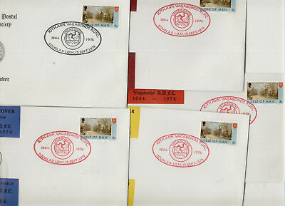 Isle of Man 1974 Collection of 5 Vagabonds Rugby Club Covers