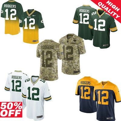 san francisco 2423f fc4cb AARON RODGERS XXL Camo Jersey Salute To The Troops Limited ...
