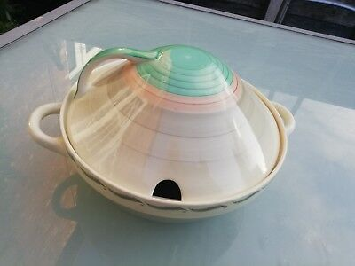 Susie Cooper Vintage 1930 Art Deco Era Lidded Tureen Wedding Band+Bowl Vgc