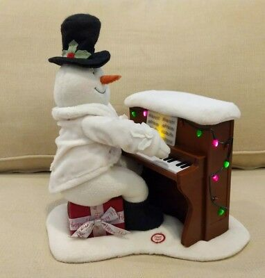 HALLMARK JINGLE PALS Piano Playing Snowman Singing Light Up Plush 2005 Christmas