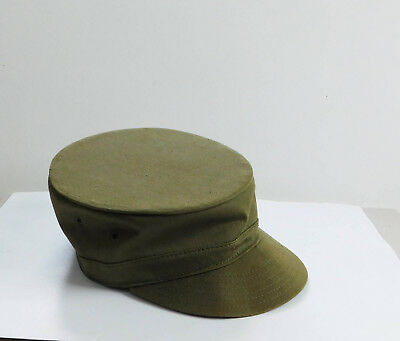 Vintage Army Falcon Cadet Jump Up Hat Cap Green 7 1/8