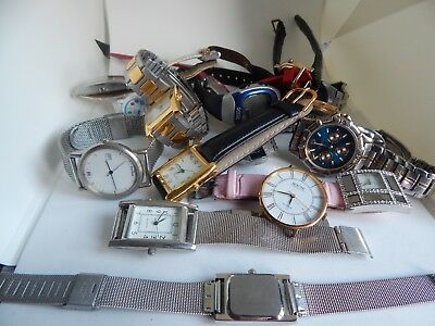 Joblot Of Mixed Various Hand Wind Ladies And Gents Watches