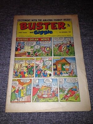 Buster And Giggle Comic 23rd November 1968 Good Condition