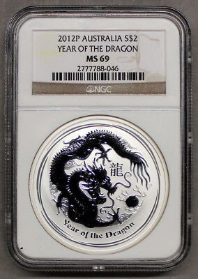 AGN - Australien 1 Dollar 2012 - Year of the Dragon - NGC MS 69