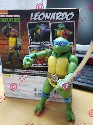 "SHF SH Figuarts Teenage Mutant Ninja Turtles 6"" Leonardo Action Figure NewInBox"