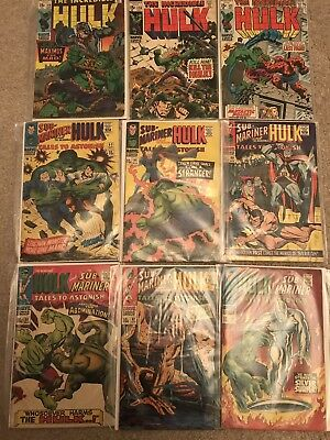 The Incredible Hulk Marvel Comics X9 silver age Abomination Silver surfer Fant 4
