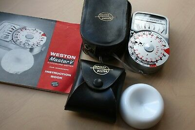 Weston Master V Exposure Meter + Invercone  Fully Working + Instructions