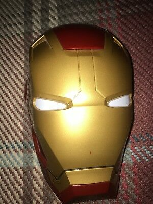 Iron Man Mask Light Up Eyes Childrens Night Light Battery Operated to go on wall