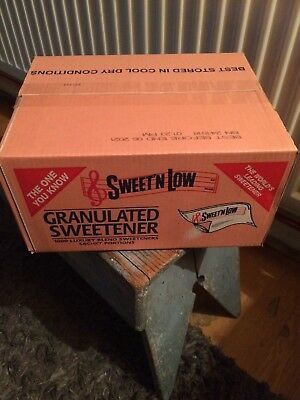 1000 SACHETS SWEET N LOW GRANULATED SWEETENER SACHETS , 1 X BOX of 1000