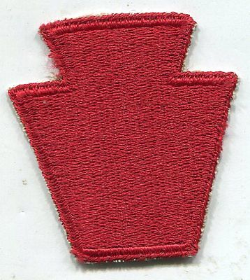 "ORIGINAL WW2 US ARMY 28TH INFANTRY ""KEYSTONE"" DIVISION Cut Edge PATCH"
