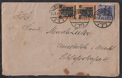 Germania Polen Poland Polska: Cover Gnesen German obliterer from August 1919 !!