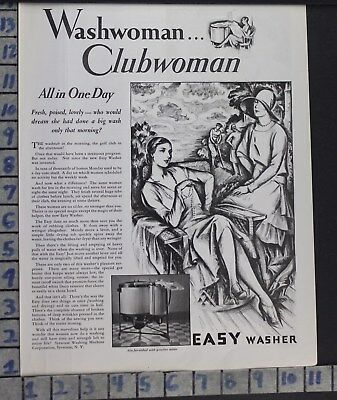 1928 Syracuse Wash Machine Sport Club Woman Home Decor Vintage Art Ad  Cf35