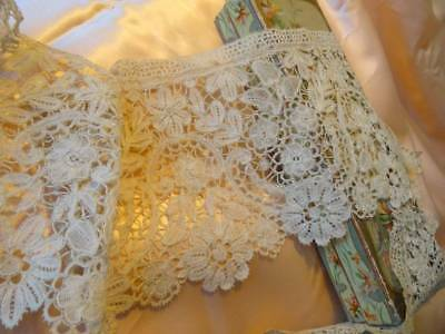 A Beautiful 19th Century Brussels Bridal  Lace C.1880