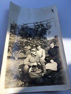 Vintage 1918 WWl Soldier Doughboy Original Name WW1 Private LT. Green In D.C.