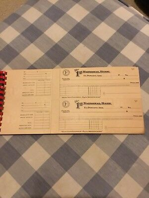 El Dorado, Arkansas First National Bank Check Register 1950 48 Unused  Checks