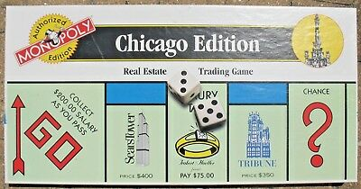Monopoly Chicago Edition  Real Estate Trading Game 1996