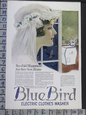 1920 Blue Bird Electric Washer Marriage Wedding Bride Home Decor Art Ad  Bt01