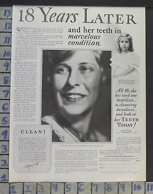 1928 Dental Medical Colgate Powder Paste Helen Mack Actress Vintage Ad Cj46