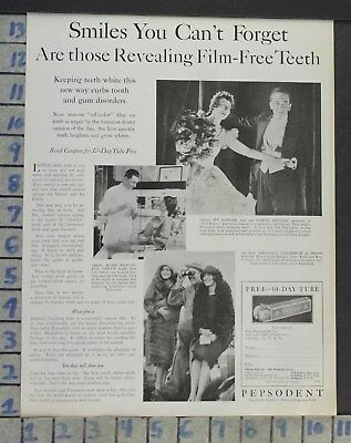 1928 Dental Medical Pepsodent Sawyer Dance Mitchel Field Lindbergh Ad Cj49