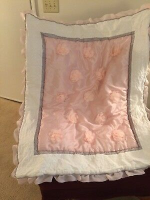 The Peanut Shell Satin Baby Crib Quilt