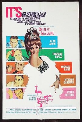 Woman Times Seven 1967 Shirley MacLaine Michael Caine Peter Sellers US Poster