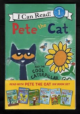 "Pete the Cat - Lot B - I Can Read - Set of 6 ""My First"" Stories - NEW - MINT SC"