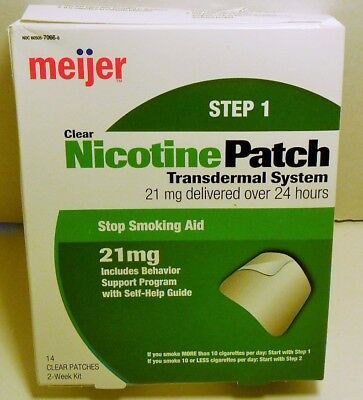 meijer Nicotine Patch Step 1 -14 Clear Patches Compare to Nicoderm 8/2020 exp