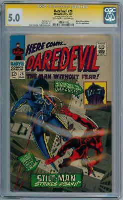 Daredevil #26 Cgc 5.0 Signature Series Signed Stan Lee Silver Age Marvel Comics